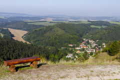 Bench at the top of the hill Stock Photography