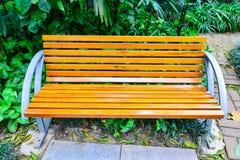bench trä Arkivfoto