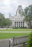 Bench in Trinity Square Gardens London Stock Image