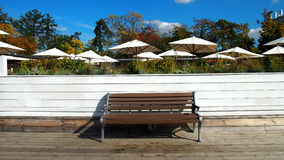 Bench and umbrella Royalty Free Stock Image