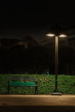 Bench Under A Lamp Stock Photography