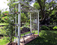 Bench Under a Trellis Royalty Free Stock Photo