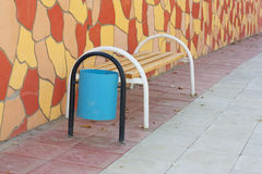Bench with urn Royalty Free Stock Images