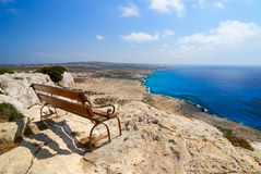 Bench with view Stock Image