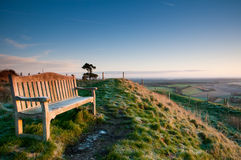 Bench with  the view Royalty Free Stock Image