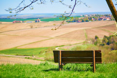 Bench with the view Royalty Free Stock Photos