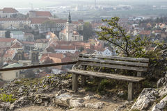 Bench and view, Mikulov - Czech Republic Stock Photography