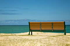 Bench with View of the Ocean Royalty Free Stock Images