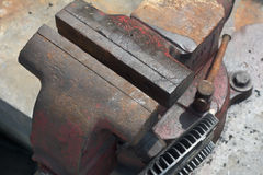Bench Vise Made of Cast Iron Stock Images