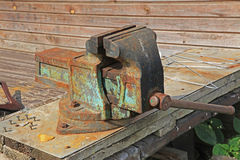 Bench vise Stock Photo