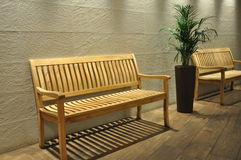 Bench in the waiting room Royalty Free Stock Photo