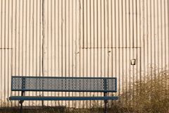 Bench and Wall Stock Photo