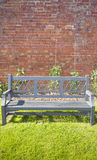 Bench in Walled Garden Royalty Free Stock Photos