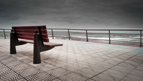 Bench from which to contemplate the sea Royalty Free Stock Images