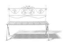 bench white Royaltyfria Bilder