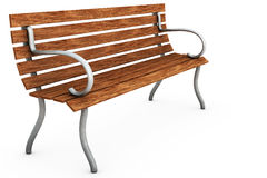 Bench on White. An empty bench isolated over a white background vector illustration