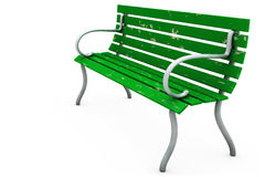 Bench on White Royalty Free Stock Image
