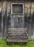 Bench and window Stock Photography