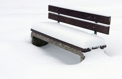Bench in winter Royalty Free Stock Image