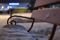 Bench Winter Night Royalty Free Stock Images