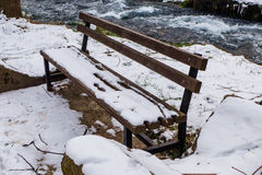 Bench in winter Stock Photo