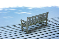 Bench in winter Stock Photography