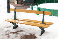 Bench in winter Royalty Free Stock Photography