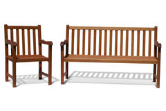 bench wood Στοκ Εικόνες
