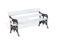 Bench. Wooden Bench isolated over white background Stock Photo