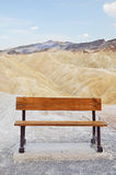 Bench at Zabriskie Point Stock Image