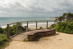 Bench at Zeally Bay Stock Image