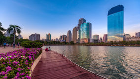 Benchakitti公园曼谷泰国 库存照片