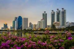 Benchakitti Park. Bangkok in thailand Royalty Free Stock Photography