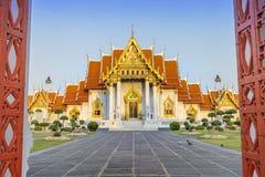 Ο διάσημος μαρμάρινος ναός Benchamabophit στοκ φωτογραφία