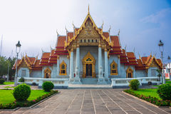 Benchamabophit-Tempel lizenzfreies stockfoto