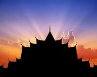 Benchamabophitr sunset Royalty Free Stock Photography
