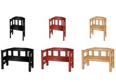 benches вектор иллюстрации деревянный Стоковое Изображение
