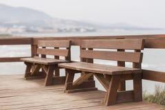 benches деревянное Стоковые Фотографии RF