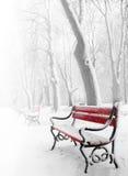 benches красный цвет Стоковое Фото