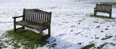 benches опускать коллежа Стоковое Изображение