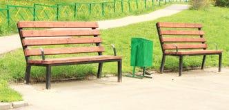 benches урны Стоковое Фото