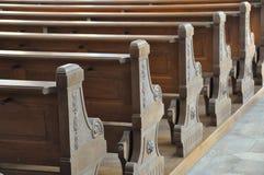 benches церковь Стоковое Изображение