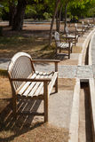 Benches along the path. Royalty Free Stock Photos