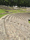 Benches in ancient Roman theatre Stock Photos