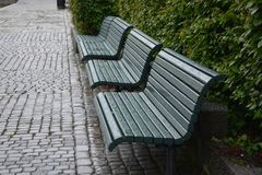 Benches, Architecture, City, Norway Royalty Free Stock Image
