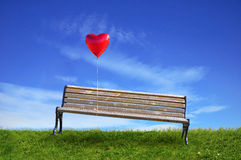 Benches and a balloon Stock Photography