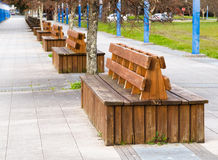 Benches in the boardwalk Stock Photos