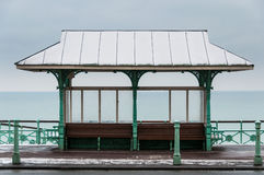 Benches on Brighton sea front Royalty Free Stock Images