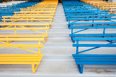 Benches Chairs Colors Public Royalty Free Stock Images