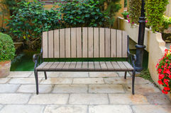 Benches decorate in beautiful garden Royalty Free Stock Images